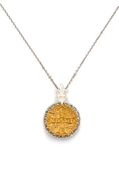 Quartz Pointe mixed metal sterling and brass Artisans Amulet pendant