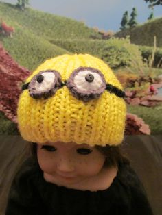 A Minion Like Hat for 18'' Dolls , American Girl, Our Generation and…