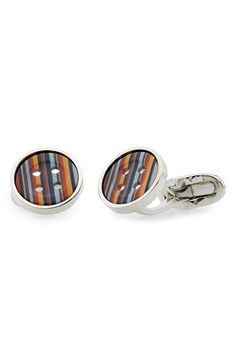 Paul+Smith+Stripe+Button+Cuff+Links+available+at+#Nordstrom 145€
