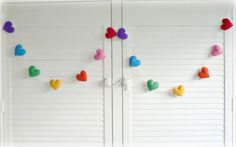 rainbow felt heart banner - what's new - Snug As a Bug 2002 Limited