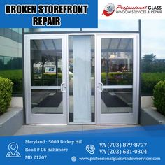 Professional Glass Window Services and Repair offer outstanding customer service by providing storefront glass repair and replacement to the clients in Virginia, Maryland, and Washington DC area. For more information visit us at Professional Glass Window Services and Repair #storefrontglass #brokenstorefrontrepair #BrokenGlassRepair #Emergencyboardup #DCEmergencyboardup #DCCommercialGlassRepair #EmergencyRepairServices #DCResidentialglassrepair #BrokenStormWindowRepair… Storefront Glass, Window Repair, Washington Dc Area, Broken Window, Glass Repair, Store Fronts, Maryland, Customer Service, Virginia