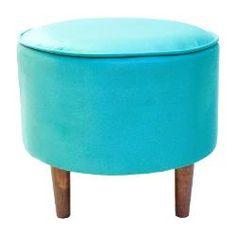 Puff Netuno Suede Azul - Decor Poltronas