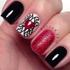 Sherlock nail art by companionofatimelord reddit nail art queen of hearts nails prinsesfo Choice Image