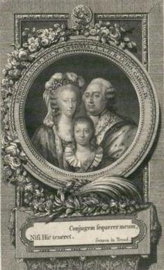 Louis XVI, Marie Antoinette, and Louis Charles.