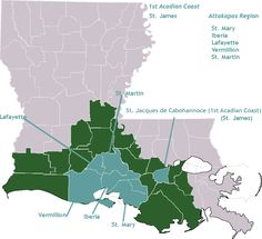 Louisiane Acadian Settlement Regions The Acadians are historically responsible for settling the southeast and southwest regions of Louisiana. Louisiana Bayou, Louisiana History, Cajun French, Acadie, France 2, Lake Charles, Canadian History, New Brunswick, Lafayette