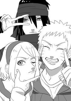 Sasuke - Sakura - Naruto Team 7
