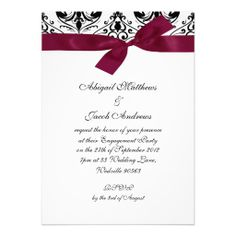 =>Sale on          Black Burgundy Ribbon Engagement Party Invitation           Black Burgundy Ribbon Engagement Party Invitation We have the best promotion for you and if you are interested in the related item or need more information reviews from the x customer who are own of them before plea...Cleck See More >>> http://www.zazzle.com/black_burgundy_ribbon_engagement_party_invitation-161778337398803888?rf=238627982471231924&zbar=1&tc=terrest