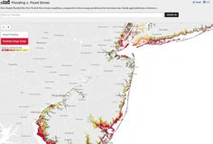 Flooding vs Flood zones / How Sandy flooded the New York and New Jersey coastlines, compared to storm-surge predictions by hurricane size. Sandy approached as a Category 1. / via Zingbot