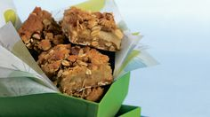 Charmingly old-fashioned, these wholesome bars pair the comforting flavors of apples and oats. They're the perfect snack to pack in a lunch box or enjoy with a cup of tea.
