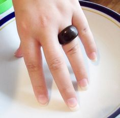 resin brown ring size US 6.5