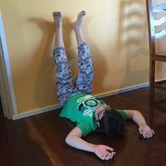Legs up the wall, one of our fave relaxation practices at Kids in Harmony.  The children love it and so do their parents and family.