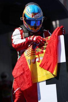 Fernando Alonso ~ Last year with Ferrari.   #Fernando #Alonso #F1
