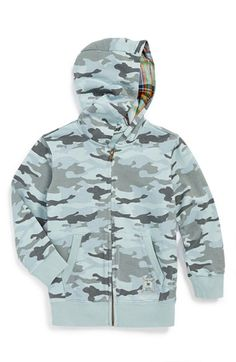 Toddler Boy's Tailor Vintage Camo French Terry Full Zip Hoodie