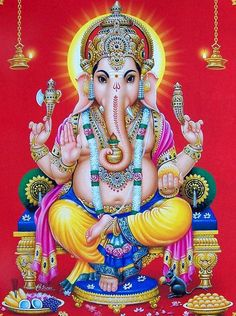 Ganesha is widely revered as the remover of obstacles, the patron of arts and sciences and the deva of intellect and wisdom. Lord Murugan Wallpapers, Lord Vishnu Wallpapers, Ganesha Pictures, Ganesh Images, Pintura Ganesha, Ganesh Bhagwan, Ganesh Photo, Lakshmi Images, Lord Ganesha Paintings