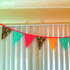 Fabric banner for K's 1st bday