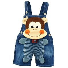 1 2 3 Baby Clothing Boys Girls Jeans Overalls Shorts Toddler Kids Denim Rompers Cute Cartoon Bebe Pants Summer Bib Clothes 1 2 3 Baby Clothing Boys Girls Jeans Overalls Shorts Toddler Kids D – Center Of Treasures Baby Outfits, Kids Outfits, Summer Outfits, Cartoon Monkey, Cute Cartoon, 3d Cartoon, Baby Cartoon, Overall Shorts, Denim Romper