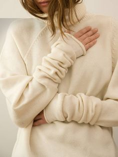 Cashmere....simply the best thing in life to wear!  So soft so comfy so cozy...who needs a man!  This is all I wear fall and winter...no cheap acrylic sweaters for me!