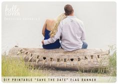 Google Image Result for http://inspiringpretty.com/wp-content/uploads/2012/07/sitting-on-log-with-save-the-date-banner.jpg