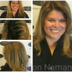 Beautiful bronde color melt technique! Keep your blonde, but with less maintenance! Love this look? Call Salon Naman to make your appointment with me for your bronde makeover! 803-327-9242