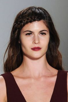 Hot off the runway: strong brows and berry lips at Nanette Lepore