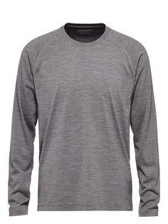 T-shirt gris à manches longues FW16 9907645 | Zegna