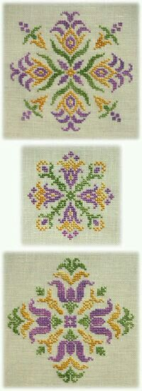 Cross Stitch , Assisi , Blackwork , Shisha , Freestyle embroidery designs by Mabel Figworthy's Fancies Biscornu Cross Stitch, Cross Stitch Borders, Cross Stitch Alphabet, Cross Stitch Flowers, Cross Stitch Charts, Cross Stitch Designs, Cross Stitching, Cross Stitch Embroidery, Hand Embroidery