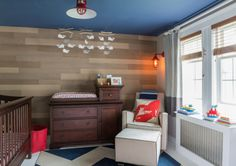 Nautical Nursery with Wood Accent Wall - Project Nursery