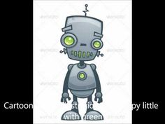Illustration about Cartoon illustration of a happy little robot with green eyes. Illustration of robot, android, future - 17825974 Vector Graphics, Vector Art, Robot Eyes, Science Fiction, Vector Robot, Robot Theme, Robot Monster, Robot Cartoon, Robot Illustration