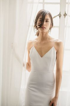 Shop Alexandra Grecco's unique collection of modern, romantic, and simple wedding dresses. a&bé bridal shop is an official Alexandra Grecco wedding dress retailer. Minimal Wedding Dress, Minimalist Wedding Dresses, Perfect Wedding Dress, Bridal Dresses, Wedding Gowns, Wedding Venues, Bridal Style, Wedding Styles, Marie