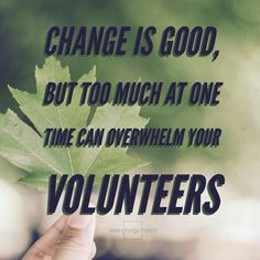 Change is good, but too much at one time can overwhelm your volunteers. ⠀ __⠀ Prioritize the changes starting with what will impact your ministry in a positive way.⠀ __⠀ To read the full post, and for more kingdom building, church growing, people leading tips, check out our website! __⠀ #everythingchurch #leadership #pastors #church #ministry #podcast #itunes #churchleadership #churchstaff #leadpastors #studentpastors #nextgen #studentmin #stumin #youthmin #kidsmin #communication #team…