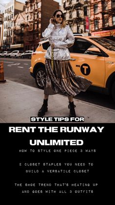 Fashion blogger Mandy Gragg shares styling tips for a single rented item worn 3 ways with items already in your closet. Fashion Hacks, All Fashion, Fashion Bloggers, Fashion Tips, Fashion Trends, Evening Attire, Rent The Runway, Full Look, Office Outfits