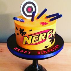 Nerf cake by Kakes by Kristi #Nerf #Buttercream