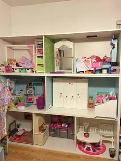 Perfect for American girl Dollhouse. IKEA Stuva storage.