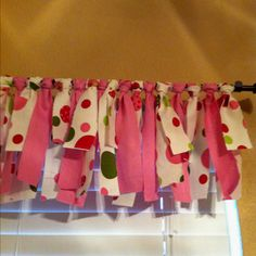 Absolutely love the idea of using ribbon as valances in girls rooms. So cool! *maybe add tulle and fabric...