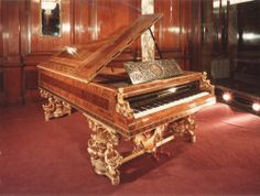 Concert Grand designed by Theophil Hansen, born in 1813 in Copenhagen. He studied architecture at the Royal Academy of Fine Arts.    This special instrument was built for the world exhibition in Paris 1867. The wife of Napoleon III, Empress Eugenie fell in love instantly. So the empress of Austria - Sisi donated this instrument to her. Then Napoleon took the instrument with him to his exile in London. 1978, Sotheby's offered the instrument and the sister of the King of Jordan bought it in…