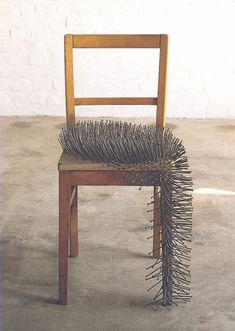 unsourced art or extremely uncomfortable chair (OK, @Andrea Anderson, this one's just plain Art ;)