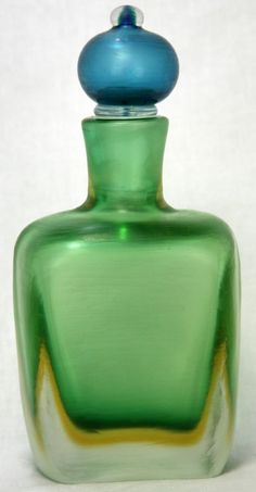 Vintage Paolo Venini Murano Signed Art Glass Decanter Bottle ca1950