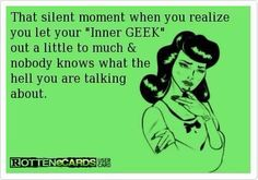 strange yes but geek? well all right then geek...<3