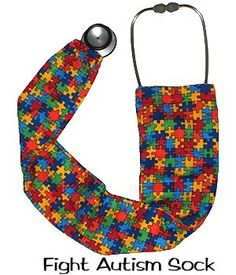 stethoscope covers Fight Autism 100% Cotton In Stock USA Made Ships Today Worldwide