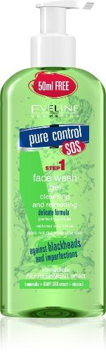 Eveline Cosmetics Pure Control Face Wash Gel Cleansing  Refreshing *** Continue to the product at the image link.