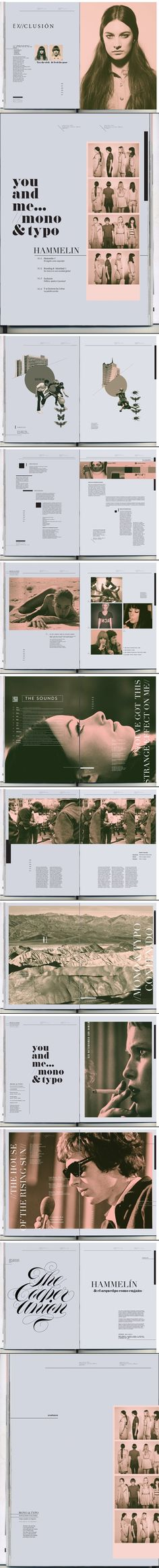 editorial layout MONO&TYPO Magazine Love the idea of horizontal photo strips instead of photo packages // page 7 Web Design, Layout Design, Design De Configuration, Design Visual, Graphic Design Layouts, Graphic Design Inspiration, Book Design, Booklet Design Layout, Design Art