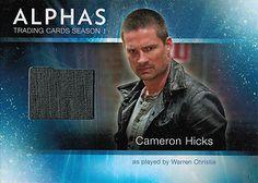 ALPHAS: Warren Christie - Cameron Hicks Ryan Cartwright, Laura Mennell, Warren Christie, Tv Series, Seasons, Cards, Costume, Seasons Of The Year, Costumes