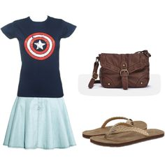 """Captian America"" by marybweird on Polyvore"