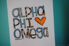 Alpha Phi Omega // service fraternity // APO // APhiO  // AΦΩ •••  another APO sketch here: http://pinterest.com/pin/237213105343084304/