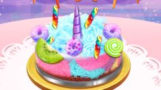 Unicorn Chef Cooking Games - Girl Food Maker Game For Kids Cooking Games For Kids, Maker Game, Unicorn, Birthday Cake, Make It Yourself, Desserts, Food, Birthday Cakes, Deserts