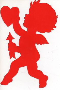 Vintage Die Cut Cupid