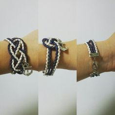 Sailor bracelet that i made with a sailor infinity know and a anchor ~