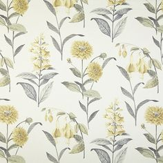 Bloomingdale - Chambray fabric, from the Charterhouse collection by Prestigious Textiles Botanical Prints, Floral Prints, Prestigious Textiles, Chambray Fabric, Floral Curtains, Made To Measure Curtains, Curtain Fabric, Floral Motif, Floral Patterns