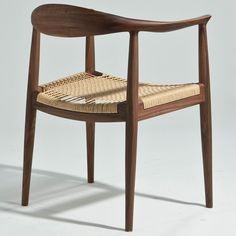 """Hans Wegner The Chair - Inspired by colonial furniture design, the Hans Wegner The Chair"""" gives your home a subtle rustic charm while maintaining its contemporary design . Plumbing Pipe Furniture, Plywood Furniture, Pex Plumbing, Shower Plumbing, Living Room Chairs, Dining Chairs, Lounge Chairs, Chair Design, Furniture Design"""