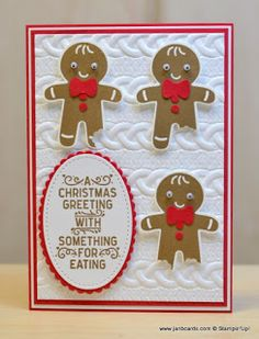 Hello, Crafters.   A few years ago , I made a Christmas card for each of my three grandchildren which depicted four images of a gingerbread ...